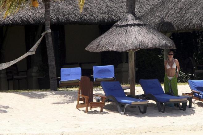 Valérie Trierweiler, durante sus vacaciones en las islas Mauricio.