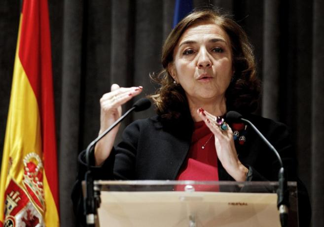 La secretaria de Estado de I+D+i, Carmen Vela, durante su...