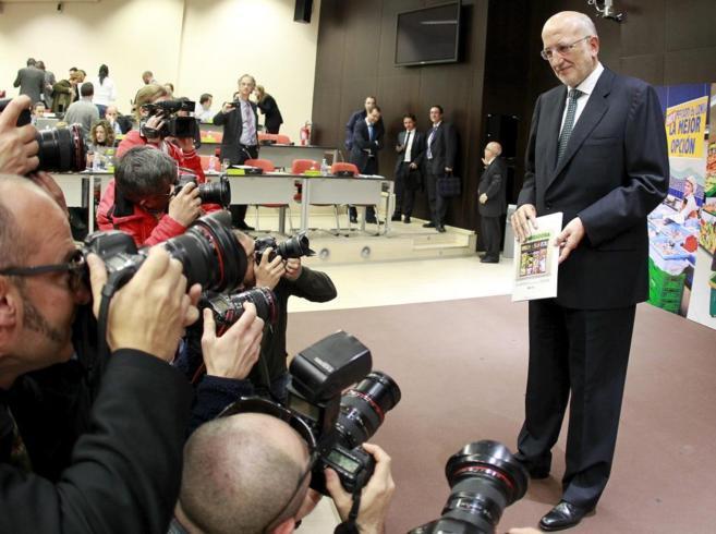 El presidente de Mercadona, Juan Roig, durante la presentación de...