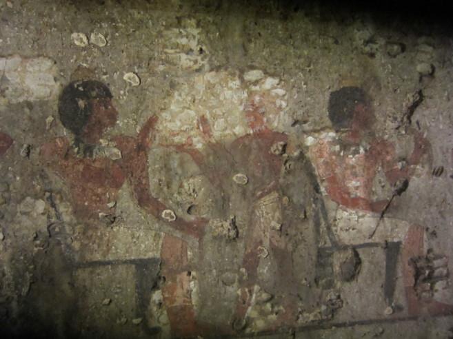 Pinturas halladas en la tumba recién descubierta en Luxor.