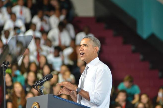 El presidente de Estados Unidos, Barack Obama, el pasado viernes en...