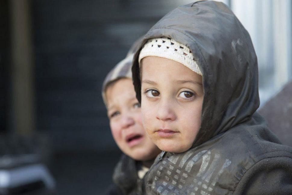 Niños en el campo de refugiados sirios de Zaatari (Jordania).