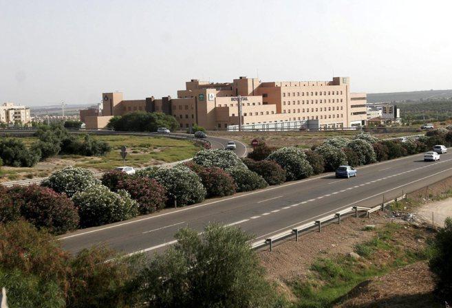 Vista general del hospital concertado con la Junta de la Orden de San...