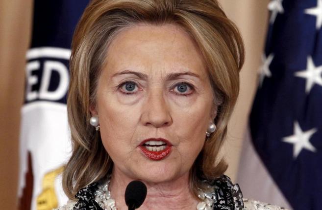 Hillary Clinton, ex secretario de Estado y posible candidata para las...