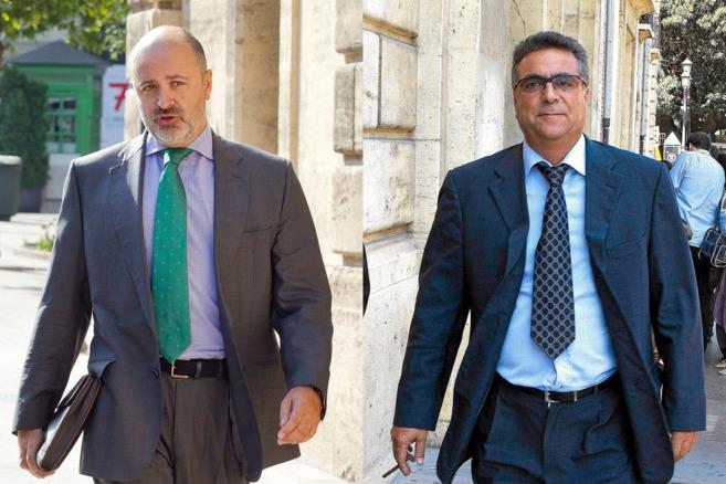 El anterior vicesecretario general del PPCV, David Serra y el...