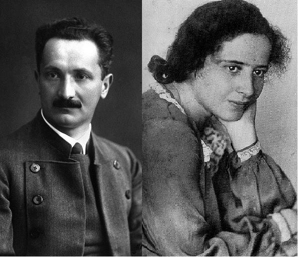 Martin Heidegger y Hannah Arendt.
