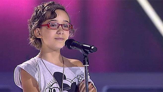 Iraila durante su participación en La Voz Kids