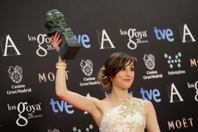 Natalia de Molina, con su Goya en la mano