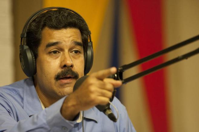 El presidente venezolano ayer martes durante su primer programa de...