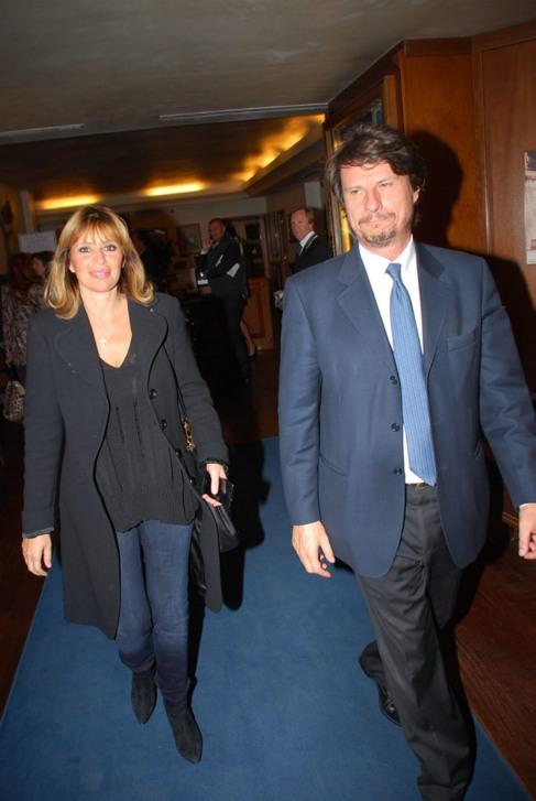 Alessandra Mussolini y su marido, Mauro Floriani