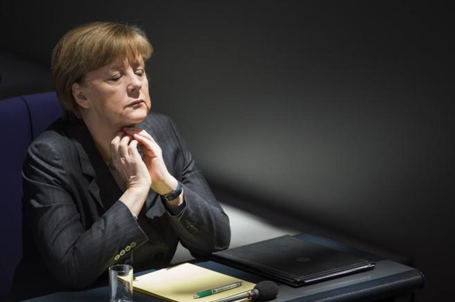 La canciller alemana, Angela Merkel, en el Bundestag.