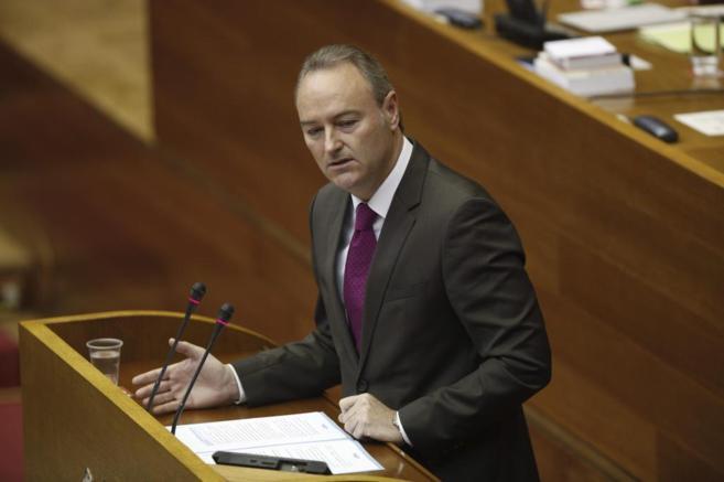 El presidente de la Generalitat Valencia, durante la sesión de...