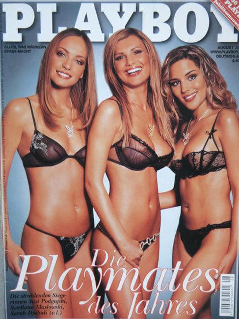 Swetlana (c), en la portada Playboy en agosto de 2002.