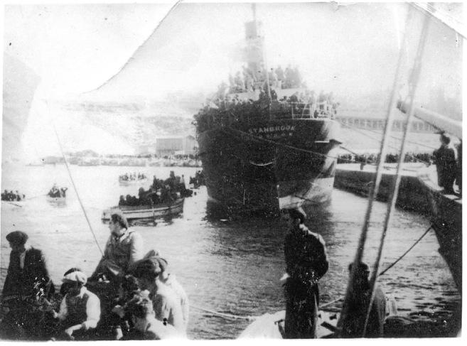 Imagen del Stanbrook cuando zarpó del puerto de Alicante con destino...