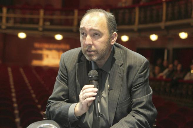 Natalio Grueso,en una rueda de prensa.