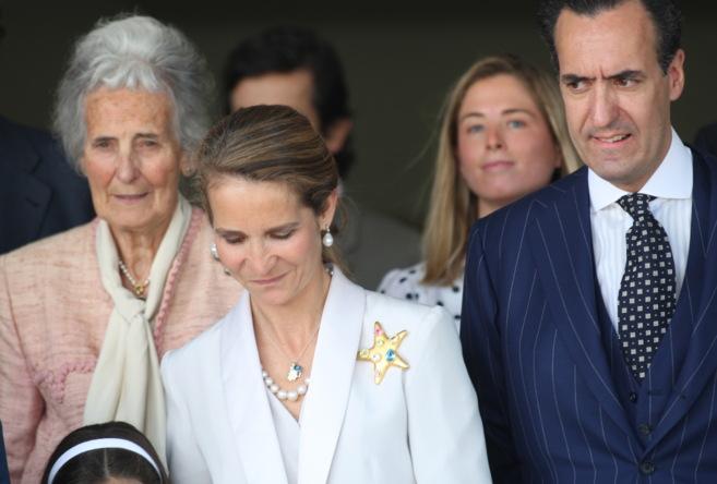 La condesa viuda de Ripalda, la infanta Elena y Jaime de Marichalar,...