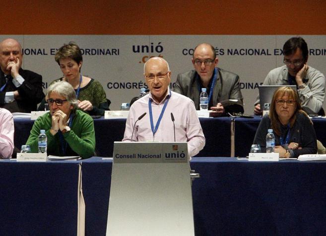 Duran i Lleida en el último  Consell Nacional d'Unió