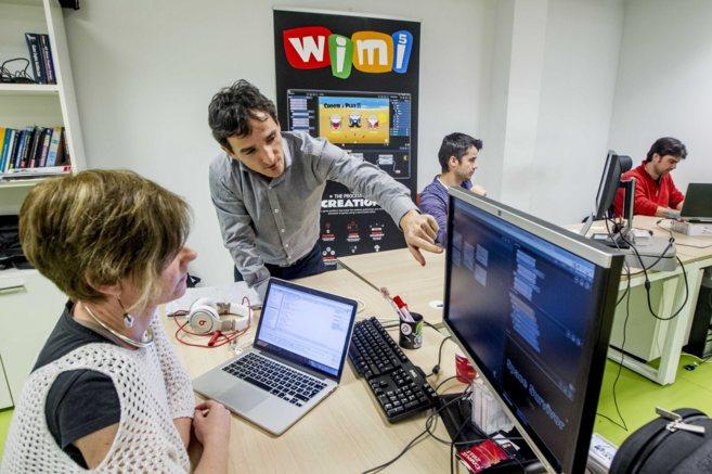 Dos de los impulsores de WiMi5, dedicada a la creación de videojuegos...
