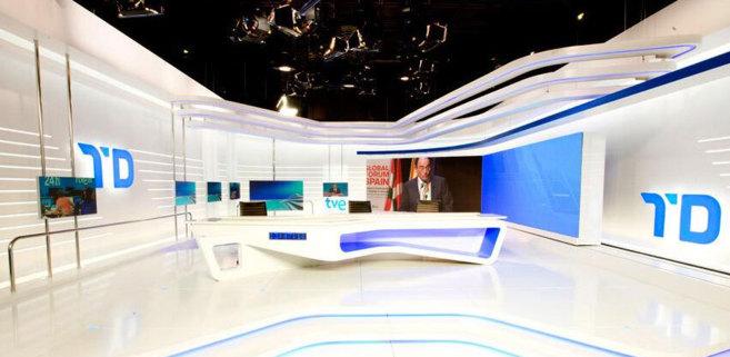 Imagen del nuevo decorado de los Informativos de TVE.