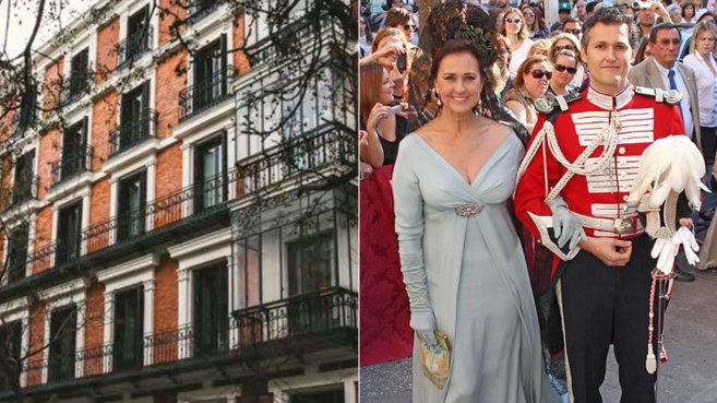 Fachada del nuevo hotel de los hijos de Carmen Tello (d), en la...