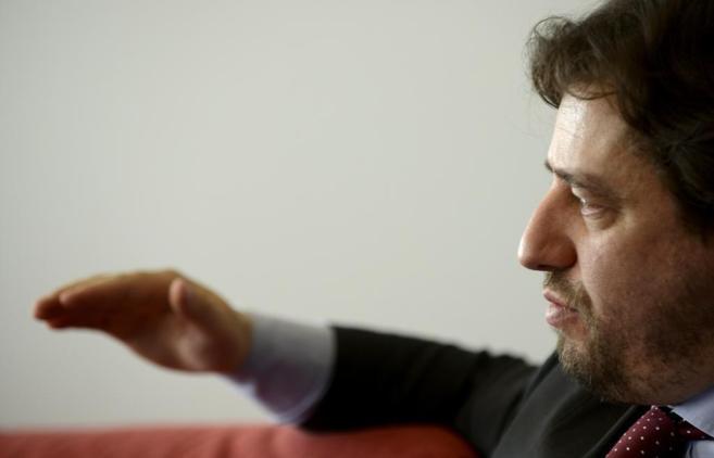 Miguel Poiares Maduro en la sede del Aspen Institute España durante...