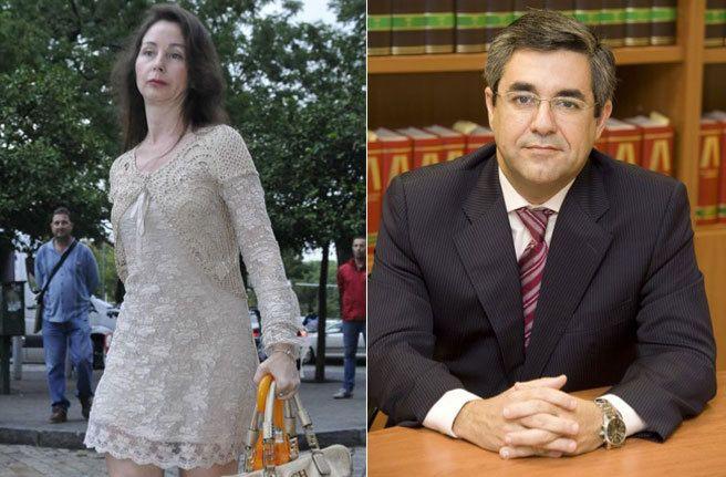 La juez Mercedes Alaya y su marido Jorge Castro que hoy se...