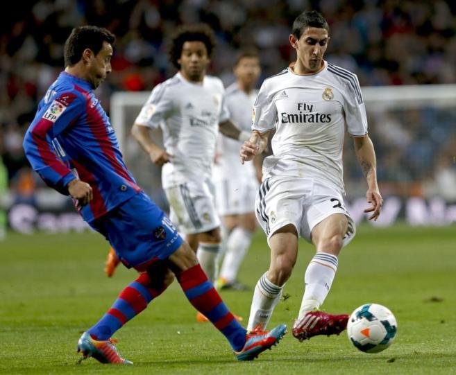 Di María, durante el partido ante el Levante de la pasada jornada.