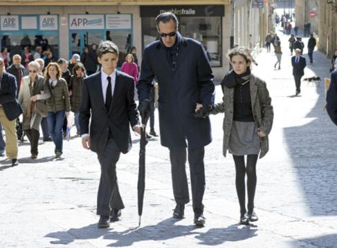 Jaime de Marichalar junto a sus hijos Felipe Juan Froilán y Victoria...