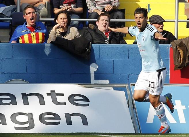 Nolito celebra su gol