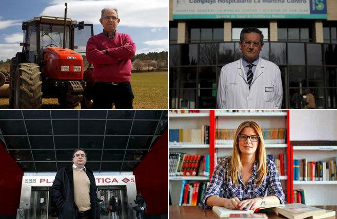 Francisco López (PSOE), Juan Sánchez (PP), Fernando Mora (PSOE) y...