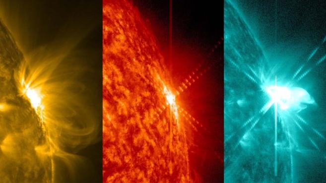 Imágenes de la llamarada captada por la NASA.