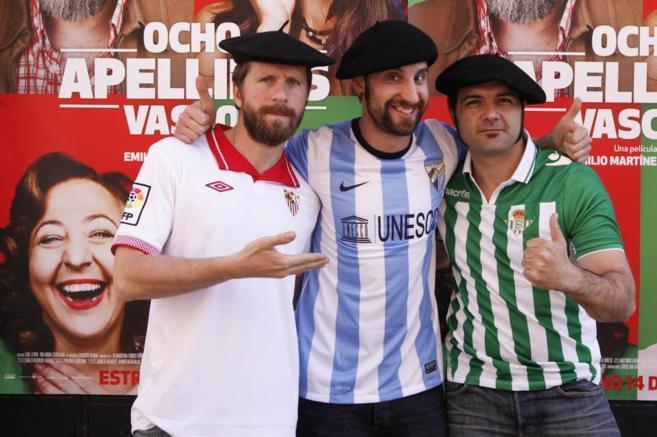 Dani Rovira, Alfonso Sanchez y Alberto Lopez en la presentación de...