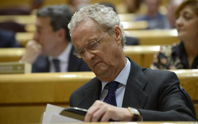 Pedro Morenés, durante una sesión de control en el Senado.