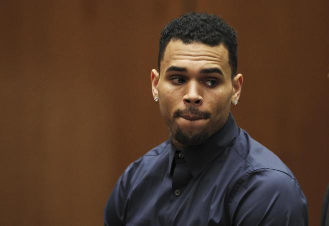 Chris Brown, durante una de sus comparecencias judiciales.