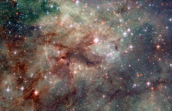 La Nebulosa de la Tarántula, en la imagen del telecopio...