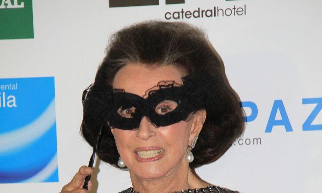 La condesa viuda de Romanones, Aline Griffith, en una fiesta en 2011.