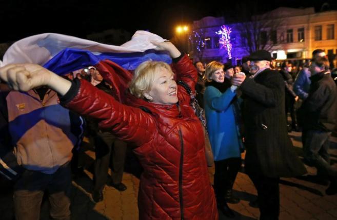 Una concentración para festejar la reunificación de Crimea con...