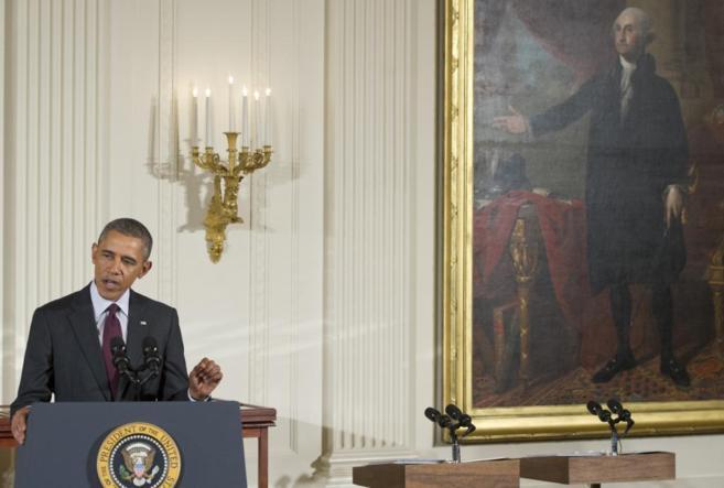 El presidente Barack Obama, este jueves durante una rueda de prensa.