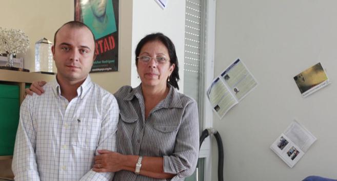 Carromero con la viuda de Oswaldo Payá, Ofelia Acevedo, en septiembre...