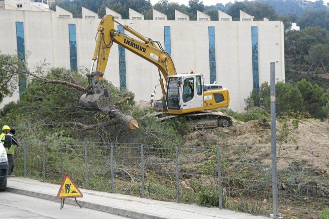 Las excavadoras han iniciado ya las obras en el último sistema dunar...