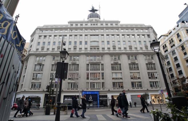 La sede de Prisa en la Gran Vía de Madrid.