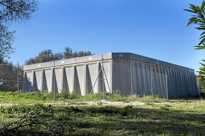El tanque de agua de Montuïri que suministra agua al municipio.