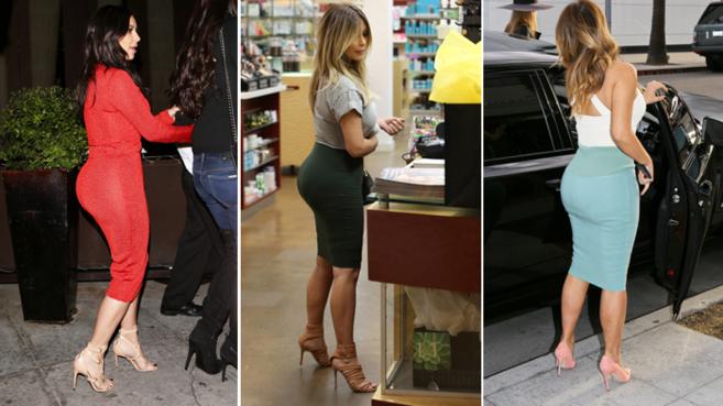 Kim Kardashian en un imagen de este miércoles (i), en noviembre de...