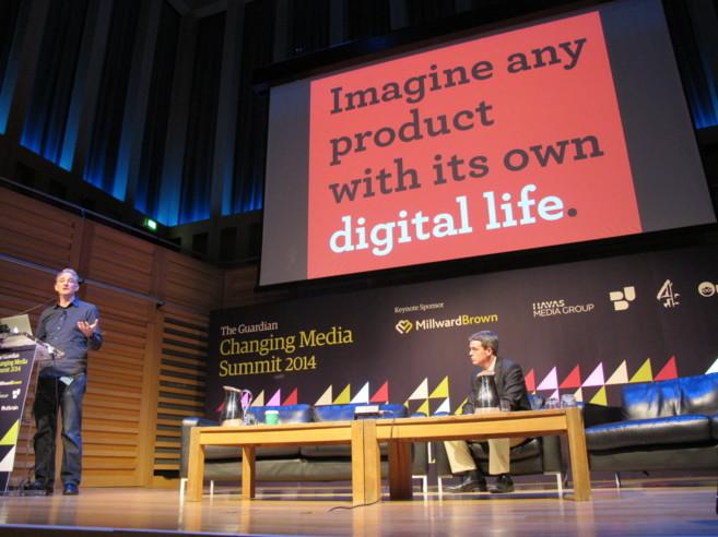 Andy Hobsbawm, cofundador de Evrythng, durante la conferencia...