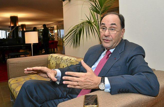 Aleix Vidal-Quadras, ayer, durante la entrevista.