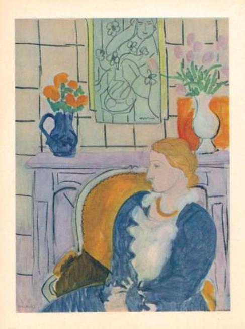 La obra 'Vestido azul en un sillón amarillo', de Matisse.