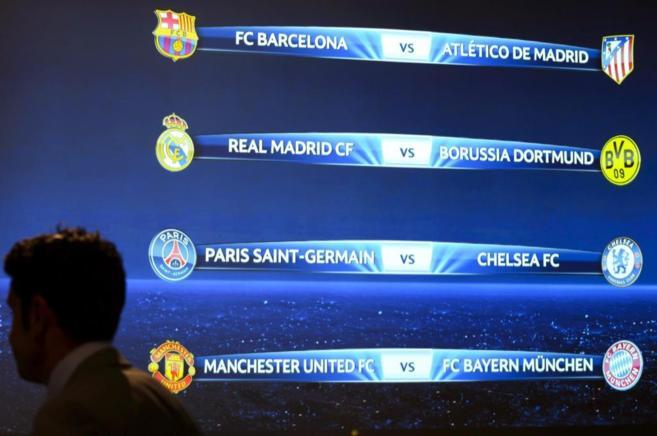 Barça-Atlético y Real Madrid-Dortmund, en los cuartos de la ...