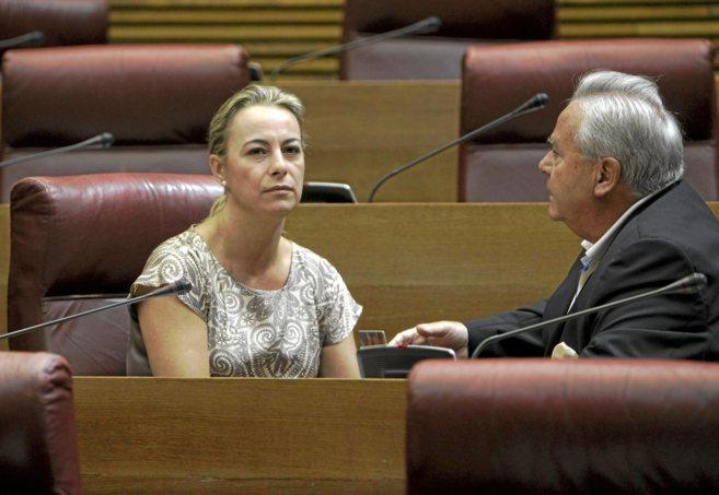 Sonia Castedo y Luis Diaz Alperi, ambos imputados en el caso Brugal,...