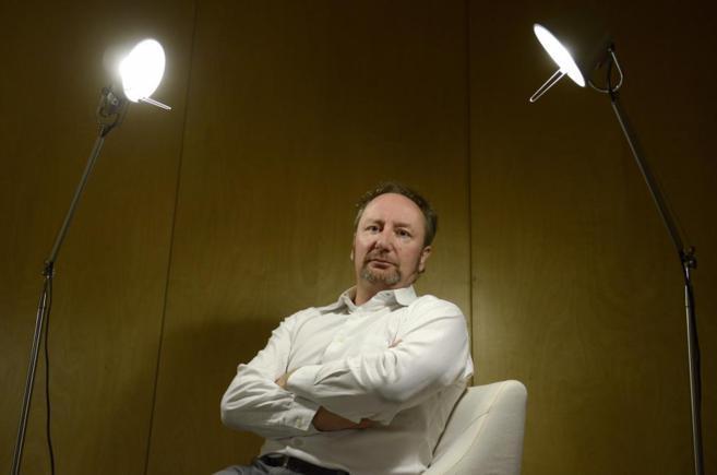 El economista Mark Blythm durante la entrevista, en un hotel de...