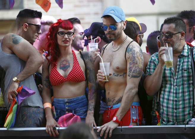 Celebración de la fiesta del orgullo gay en Valencia.